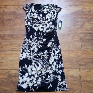 Lauren Ralph Lauren V neck, Wrap Dress
